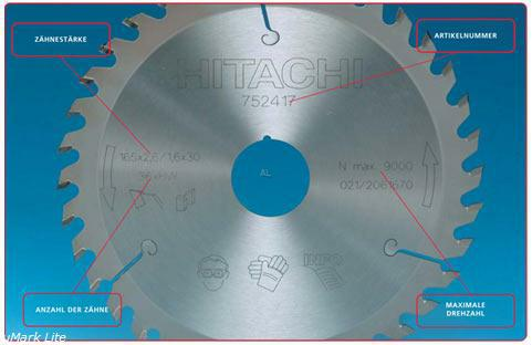 Hitachi Kreis Sägeblatt