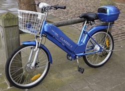 E-Bike mit Nabenmotor und Akku