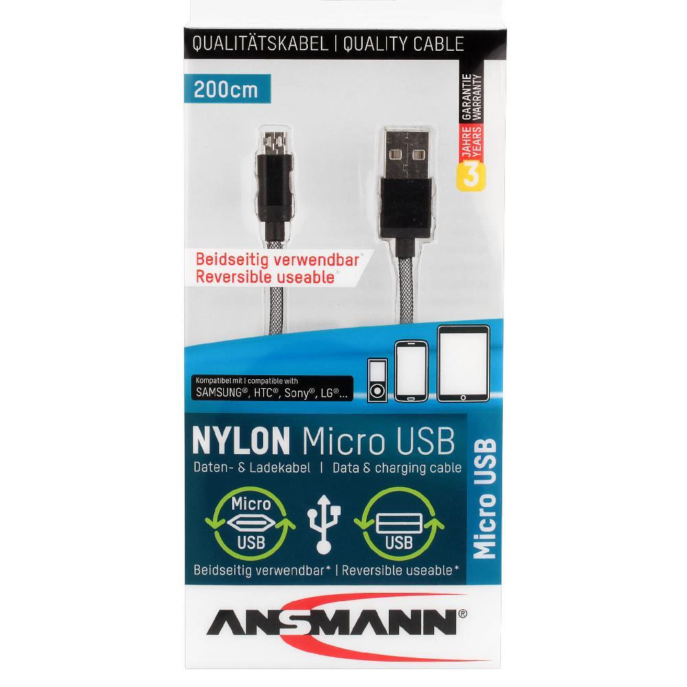 2 Meter (200cm) Micro USB Kabel