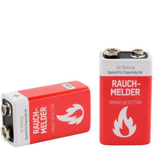 2 St. Ansmann Alkaline Rauchmelder-Batterien
