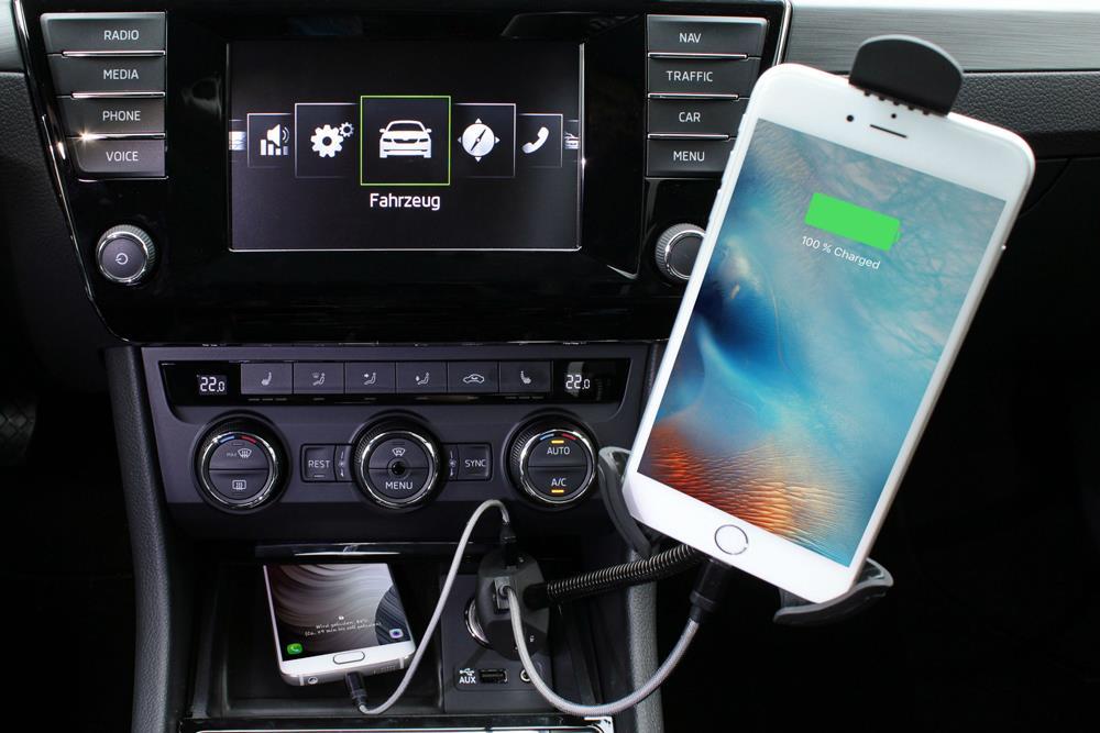 3 Port USB Kfz-Ladegerät für Smartphone