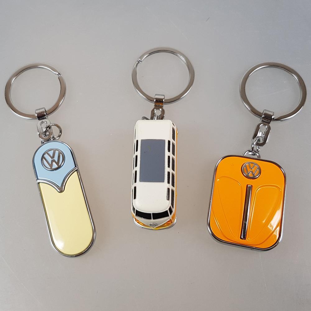 3 Schlüsselanhanger VW, Ansicht von oben