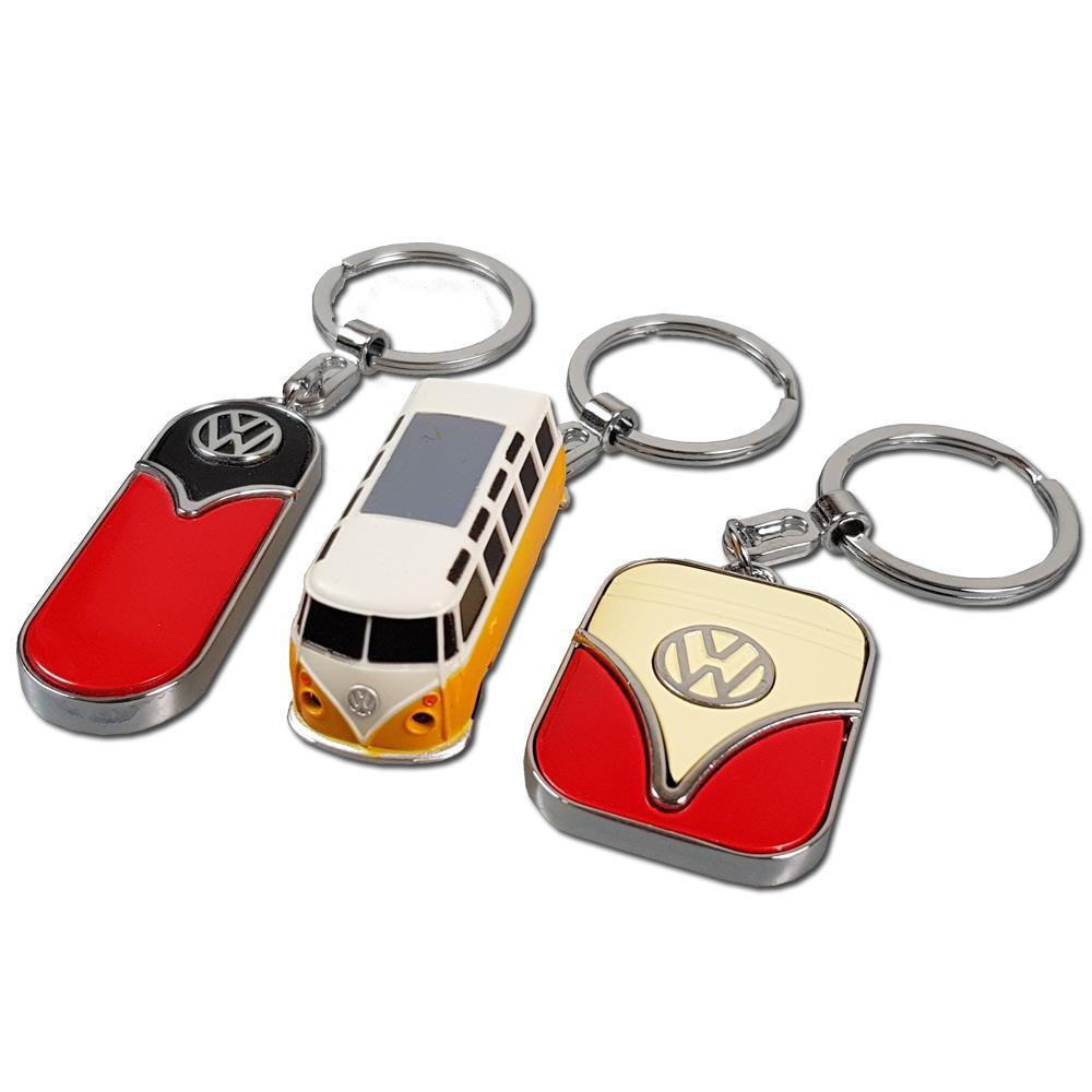 3 verschiedene Retro VW Schlüsselanhänger