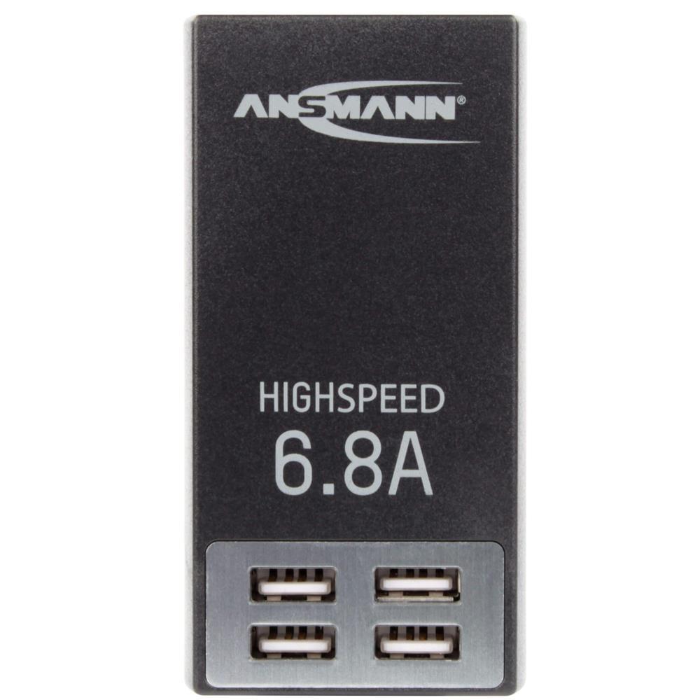 6,8A Universal Ladegerät mit 4 USB-Ports