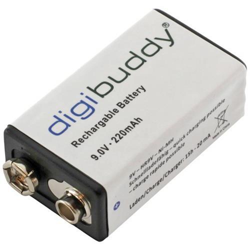 9 Volt Blockakku Digibuddy 220mAh HR9V