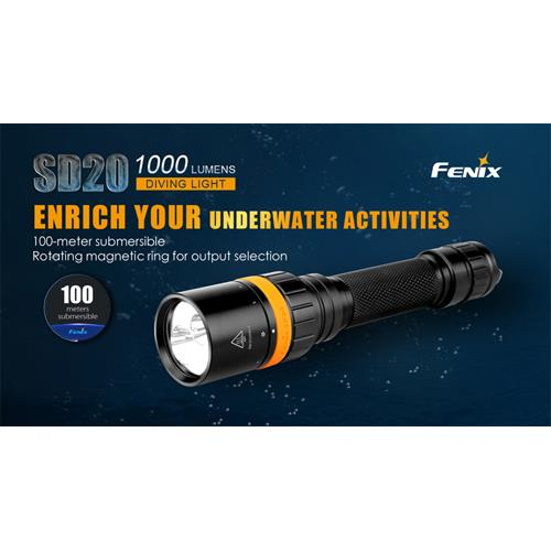930 Lumen LED Tauchlampe