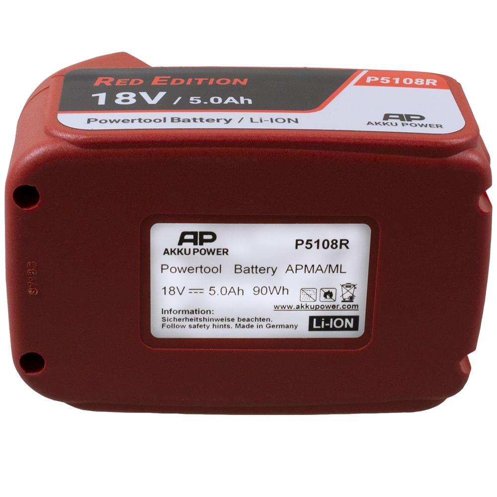 Akku-Power P5108R Red-Edition Ersatzakku