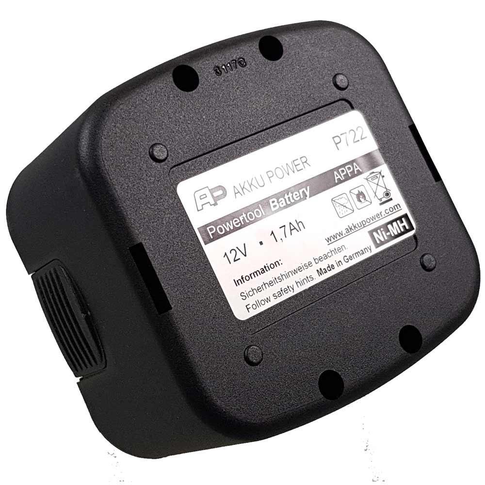 Akku Power P722 MiMH 12V 1700 mAh Akku