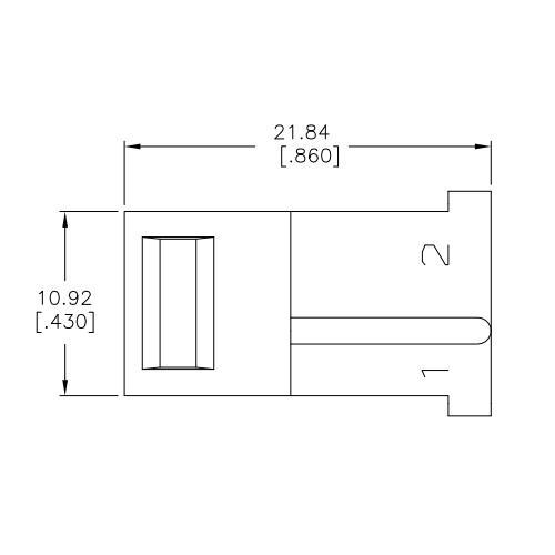 AMP 1-480318-9  STECKER, Seiten-Ansicht