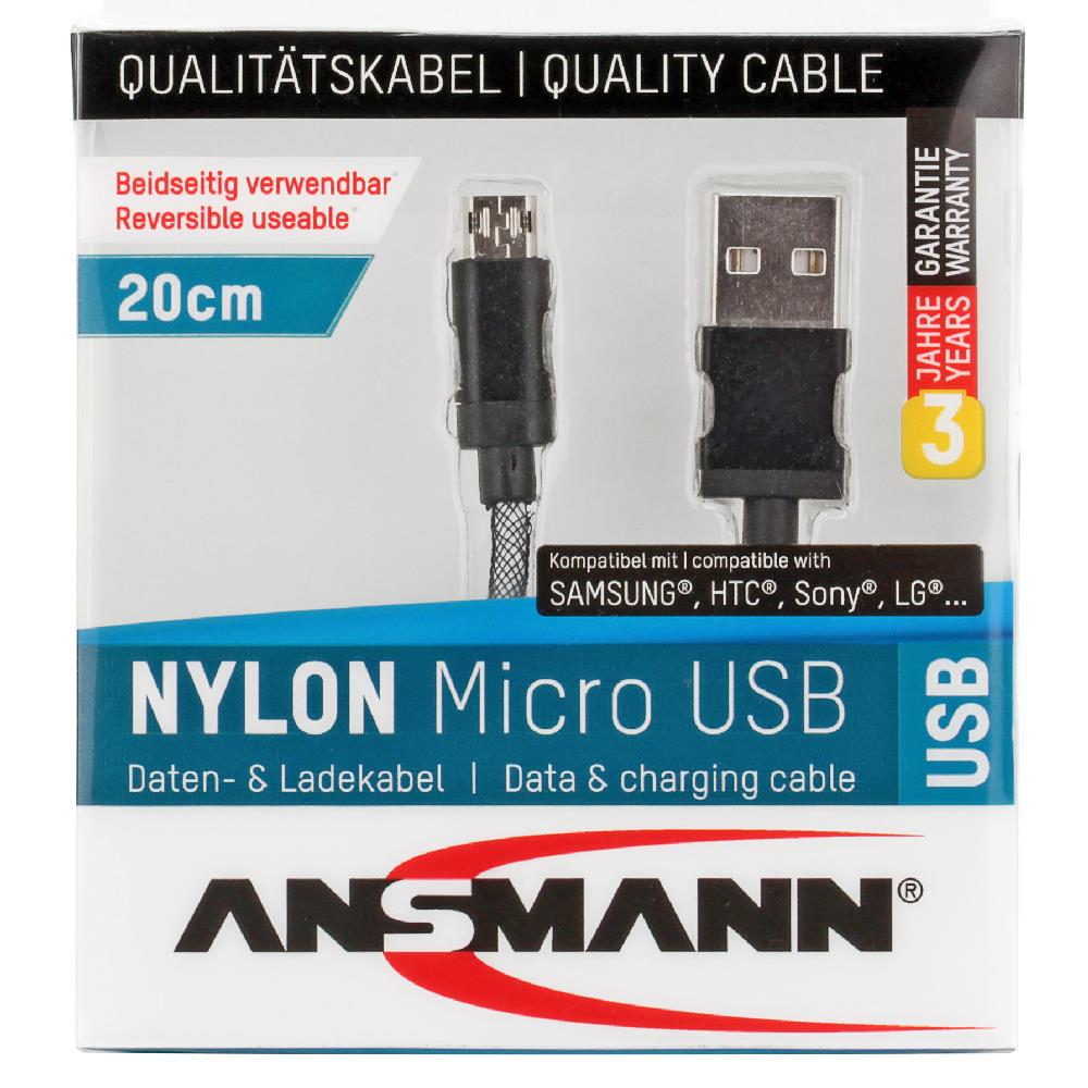 Ansamm 20cm USB auf Micro USB Kabel