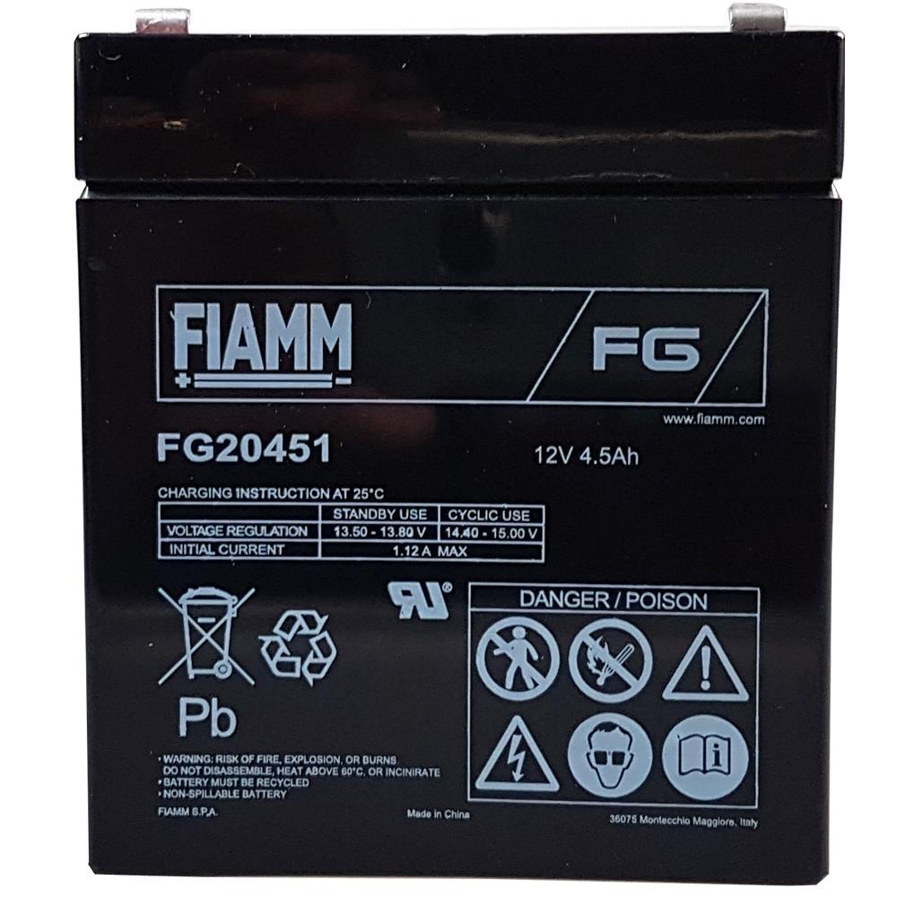 Ansicht frontal Fiamm FG20451 Bleiakku
