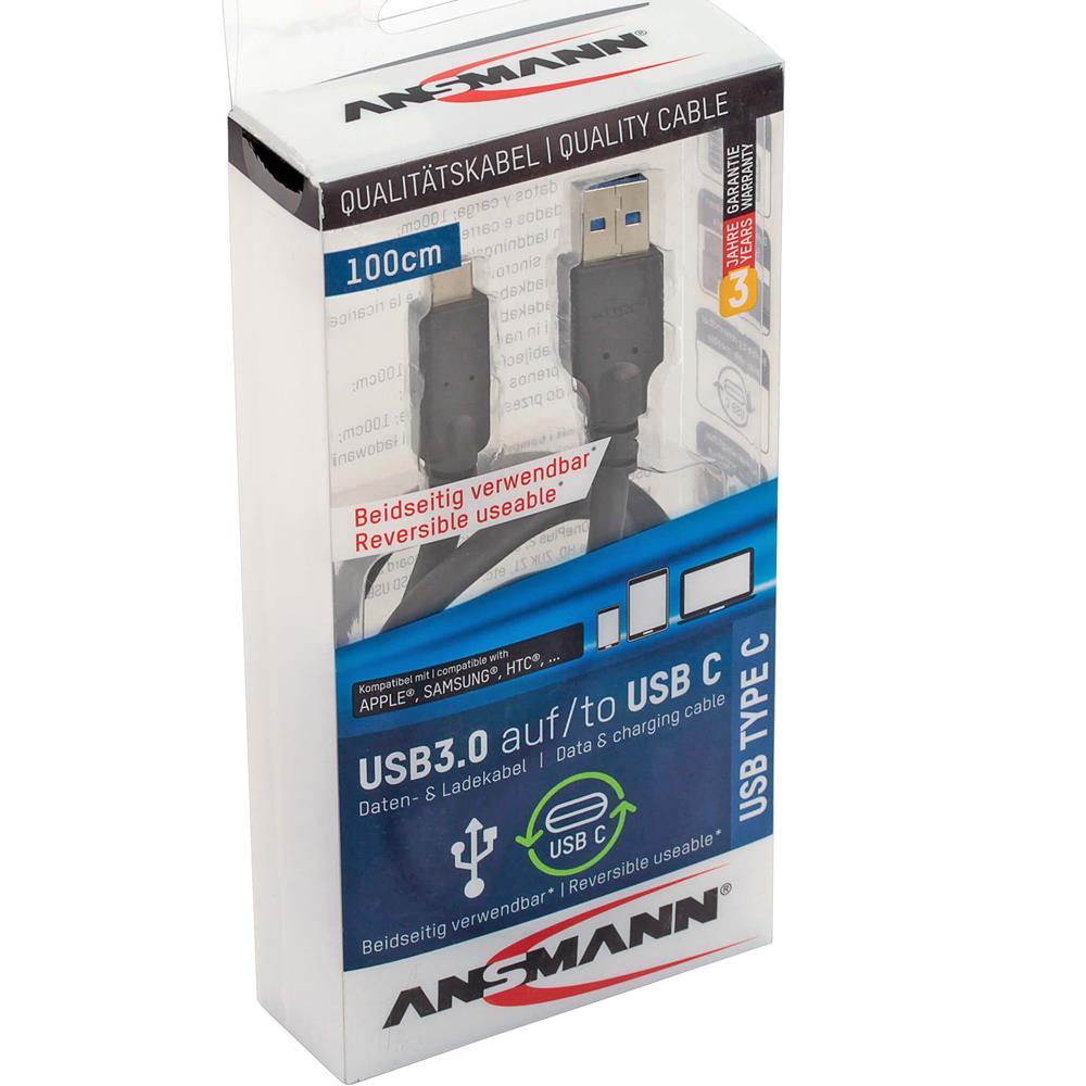 Ansmann 1m USB 3 auf Typ-C Kabel
