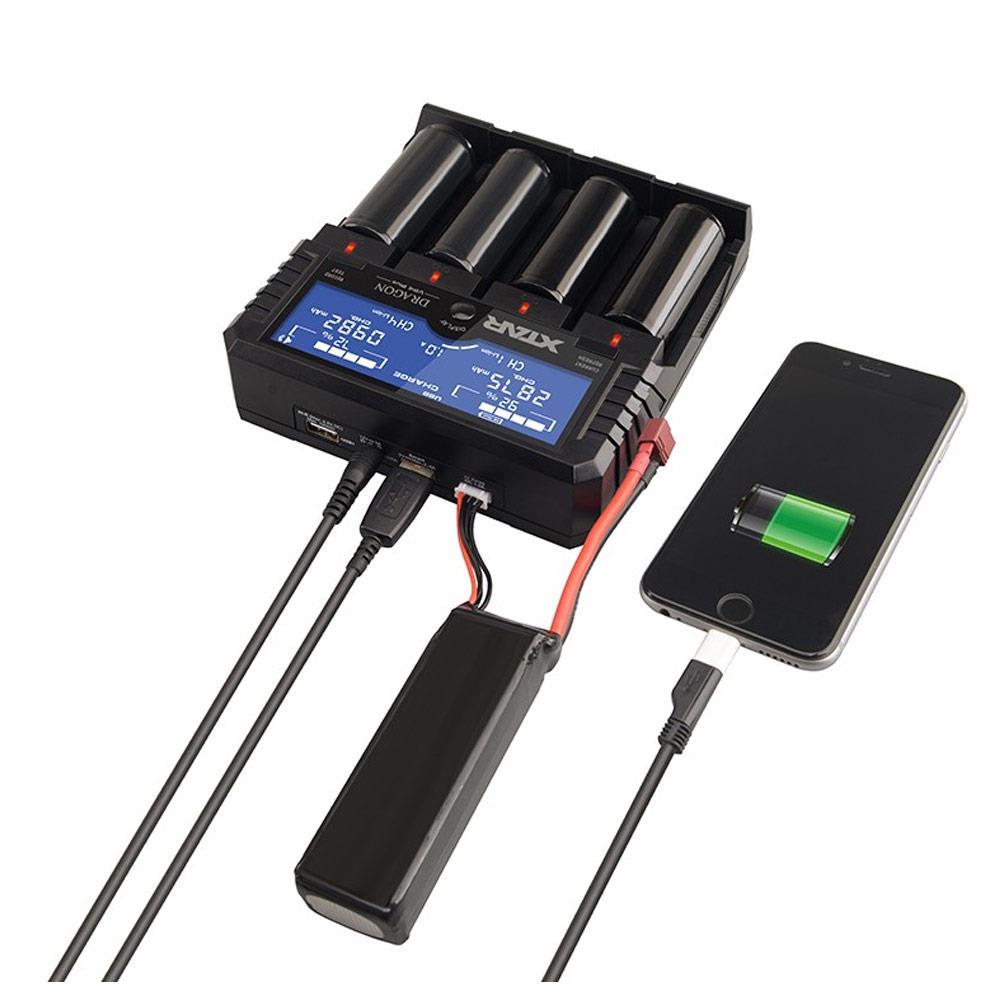Dragon VP4 Plus 4-Schacht USB-Ladegerät