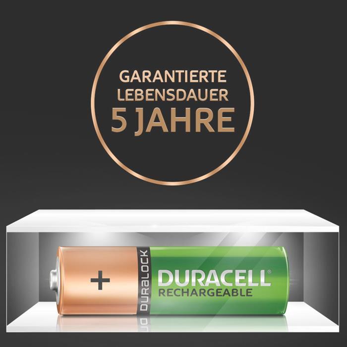 Duracell Ultra Akkus halten bis zu 5 Jahren