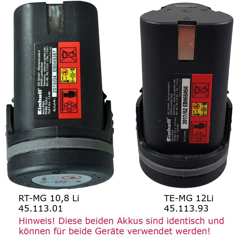 Einhell TE-MG 12Li und RT-MG 10.8 Akku