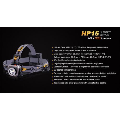 Fenix HP15 LED Stirnlampe UE
