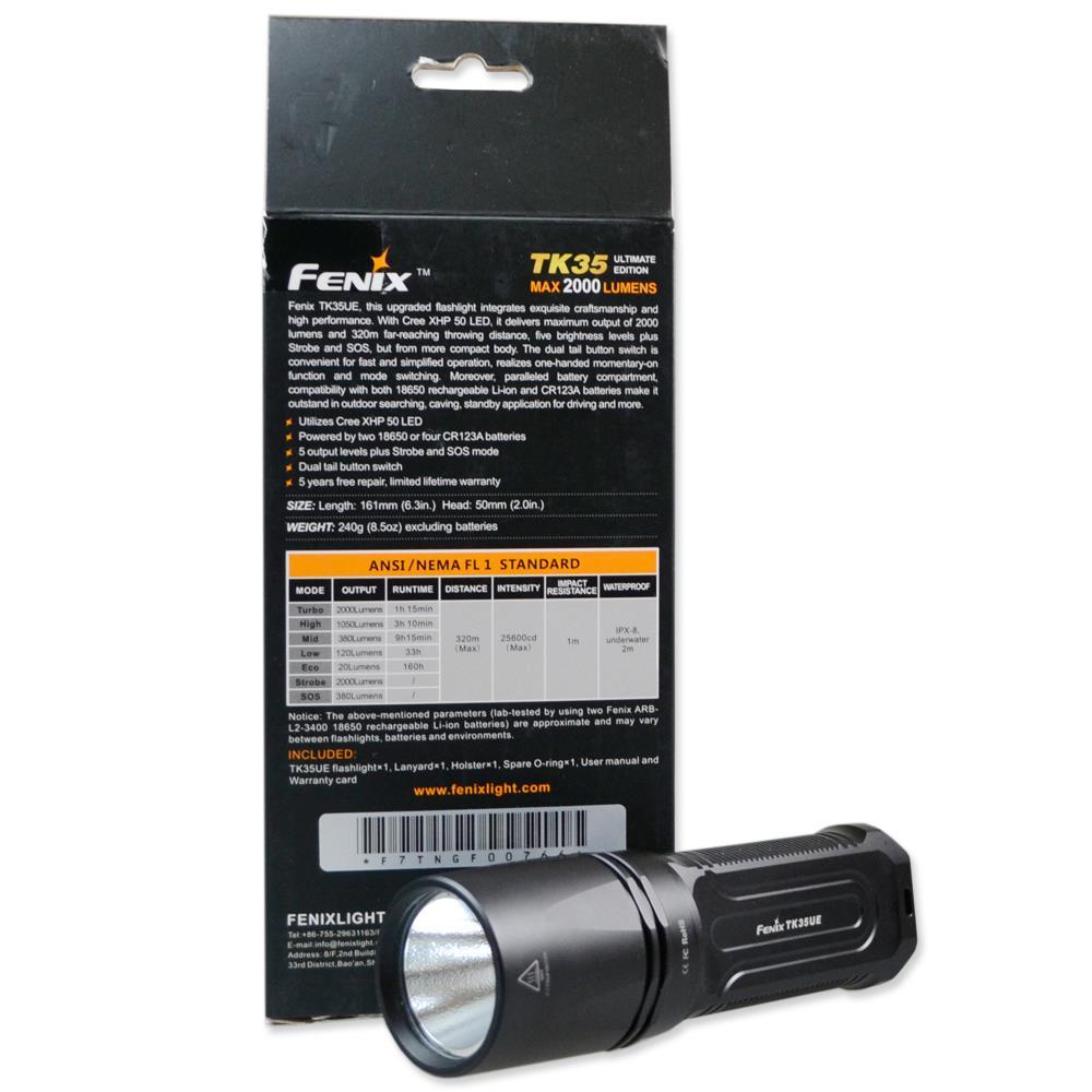 Fenix TK35UE Taschenlampe Verpackung hinten