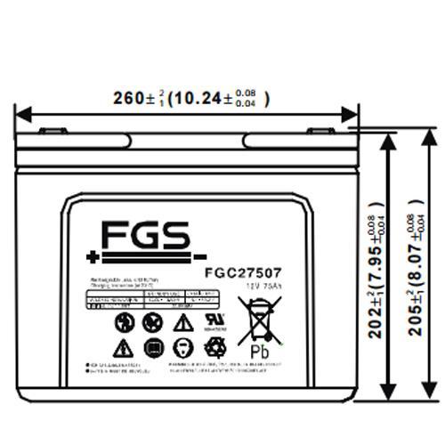 FGC27507 Akku Frontansicht