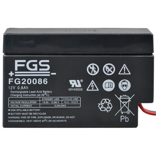 FGS Bleiakku FG20086  mit AMP Buchse 12 Volt