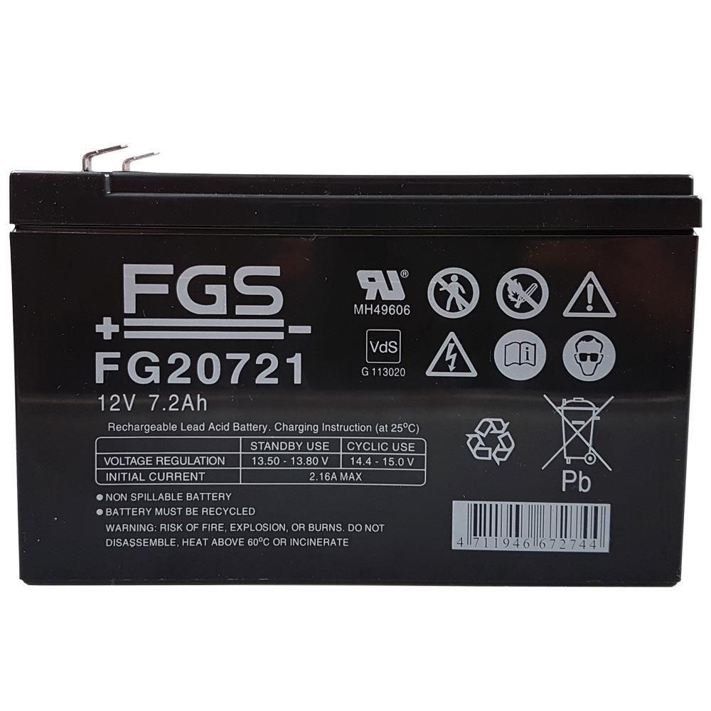 FGS FG20721 Bleiakku 12V in frontaler Ansicht
