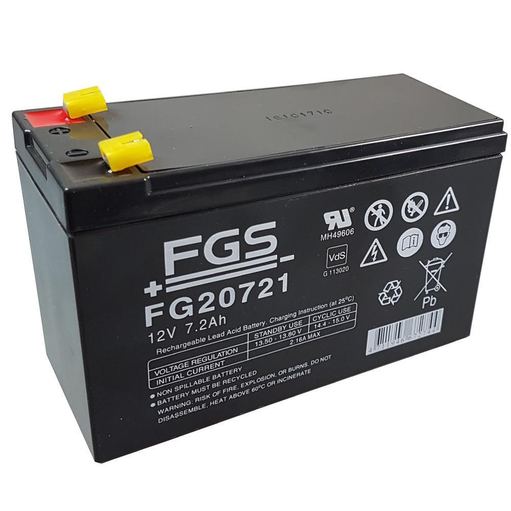 FGS FG20721 Bleigel-Akku 12V mit Schutzkappen