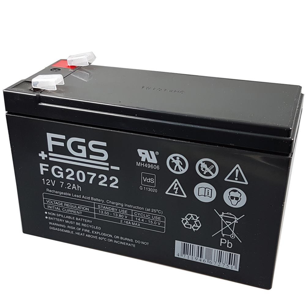 FGS FG20722 Bleigel-Akku 6,3mm 12V 7200mAh