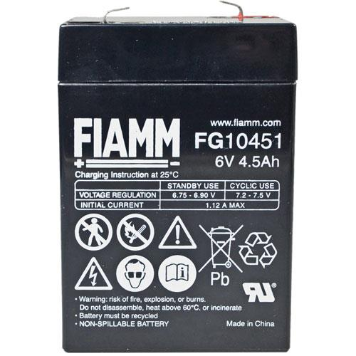 FIAMM Bleiakku FG10451 6,0 Volt und 4.500 mAh