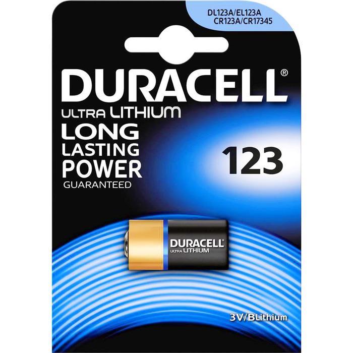 Fotobatterie Duracell CR123 Ultra Lithium 3V