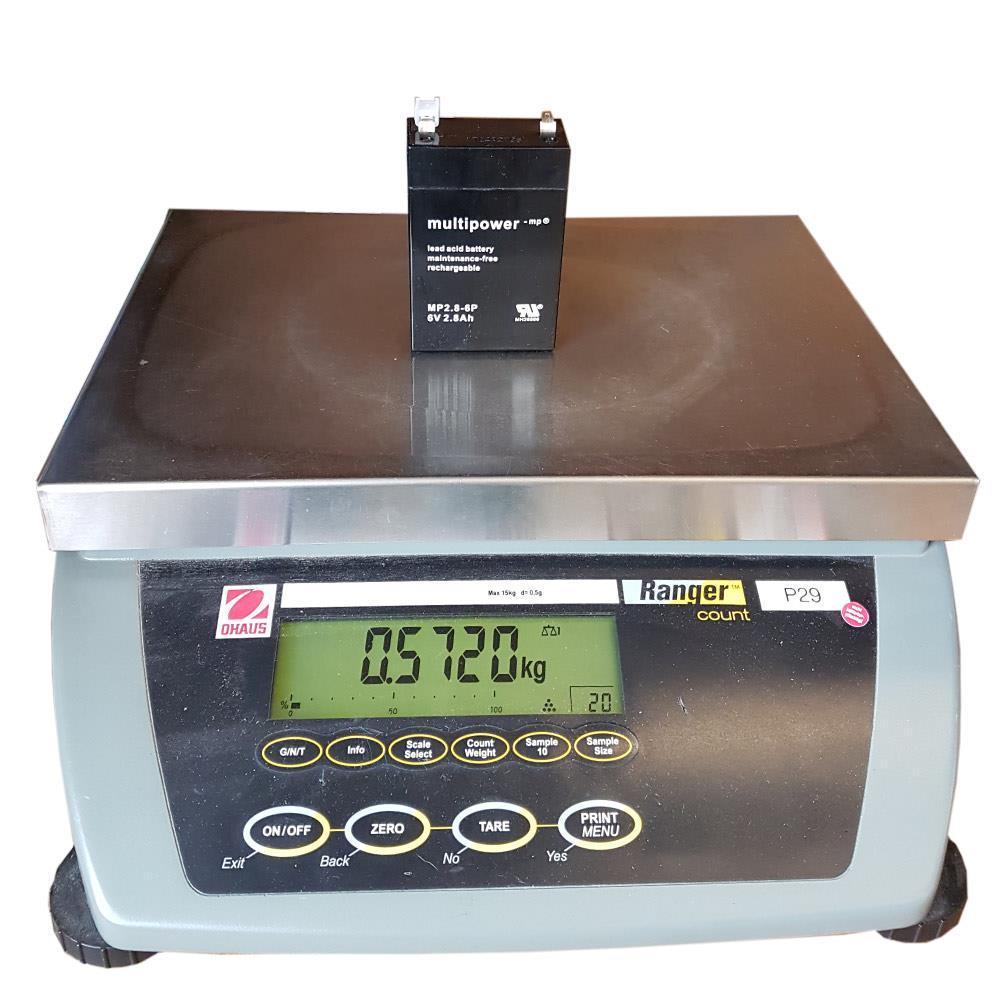 Gewicht Multipower MP2.8-6 Akku 6V 2.8Ah