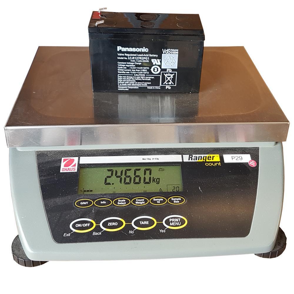 Gewicht Panasonic LC-R127R2PG1 Akku
