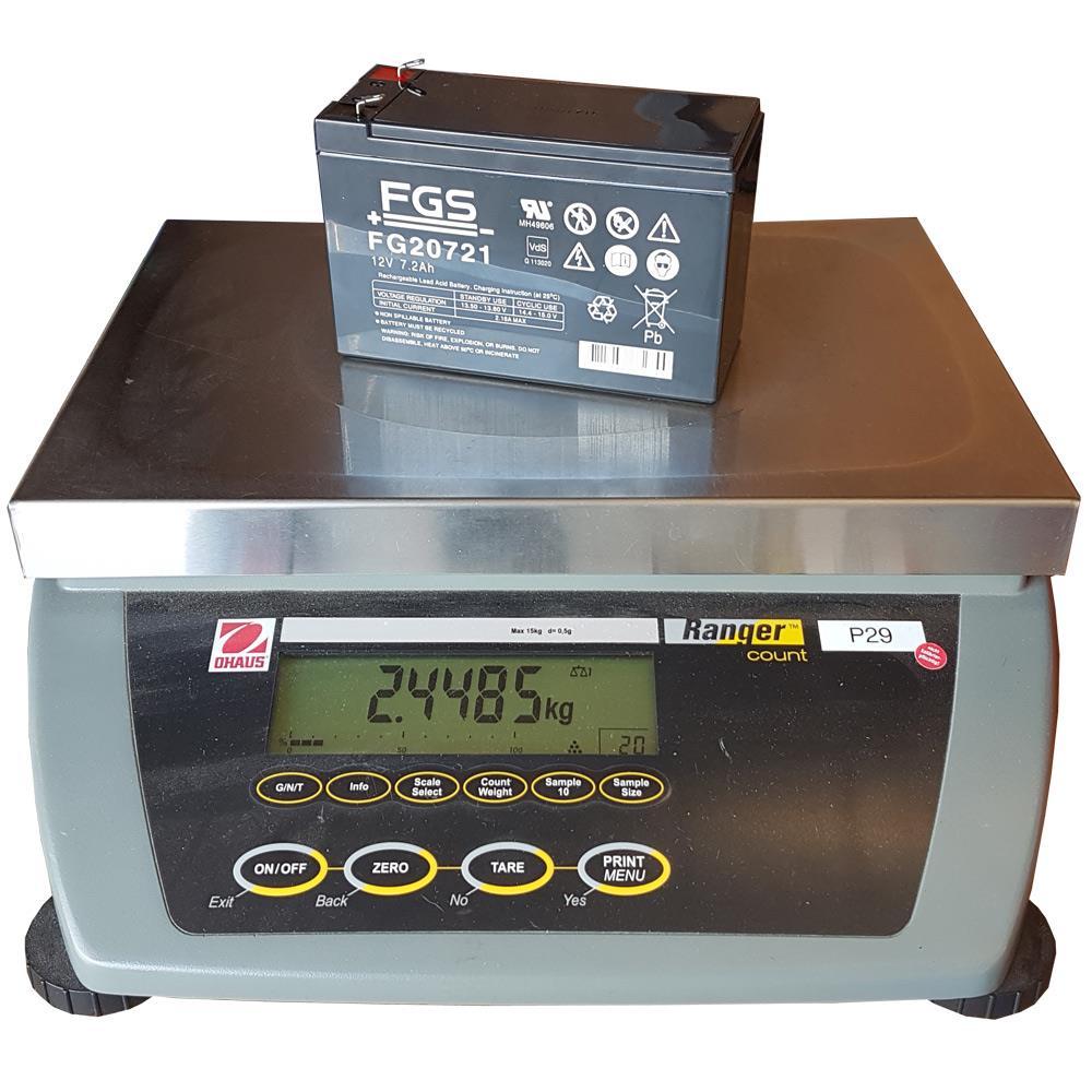 Gewicht vom FGS Akku FG20722 6,3 mm Kontakte