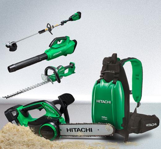Hitachi Akku-Kettensäge - emissionsfrei