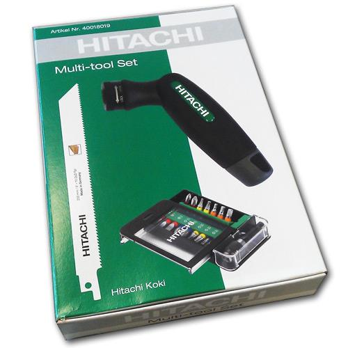 Hitachi Multi-Tool Set mit Säge und Bit-Box