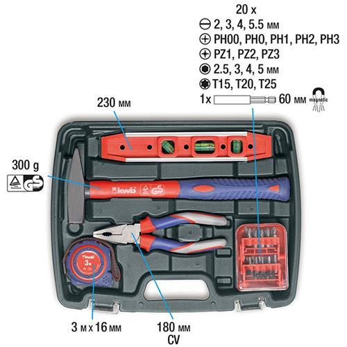 Inhalt KWB 370720 Werkzeugset