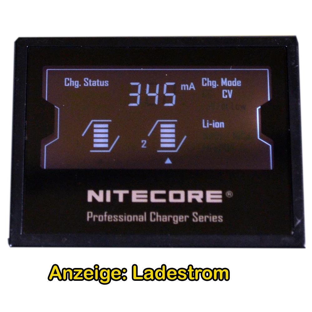 Ladegerät NC-D2EU Nitcore Display Ladestrom