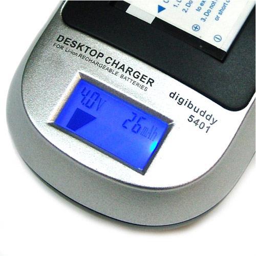 LCD-Display für Status, Spannung, Kapazität