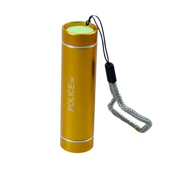 gelbe LED Minileuchte mit Alugehäuse, akkuline.de