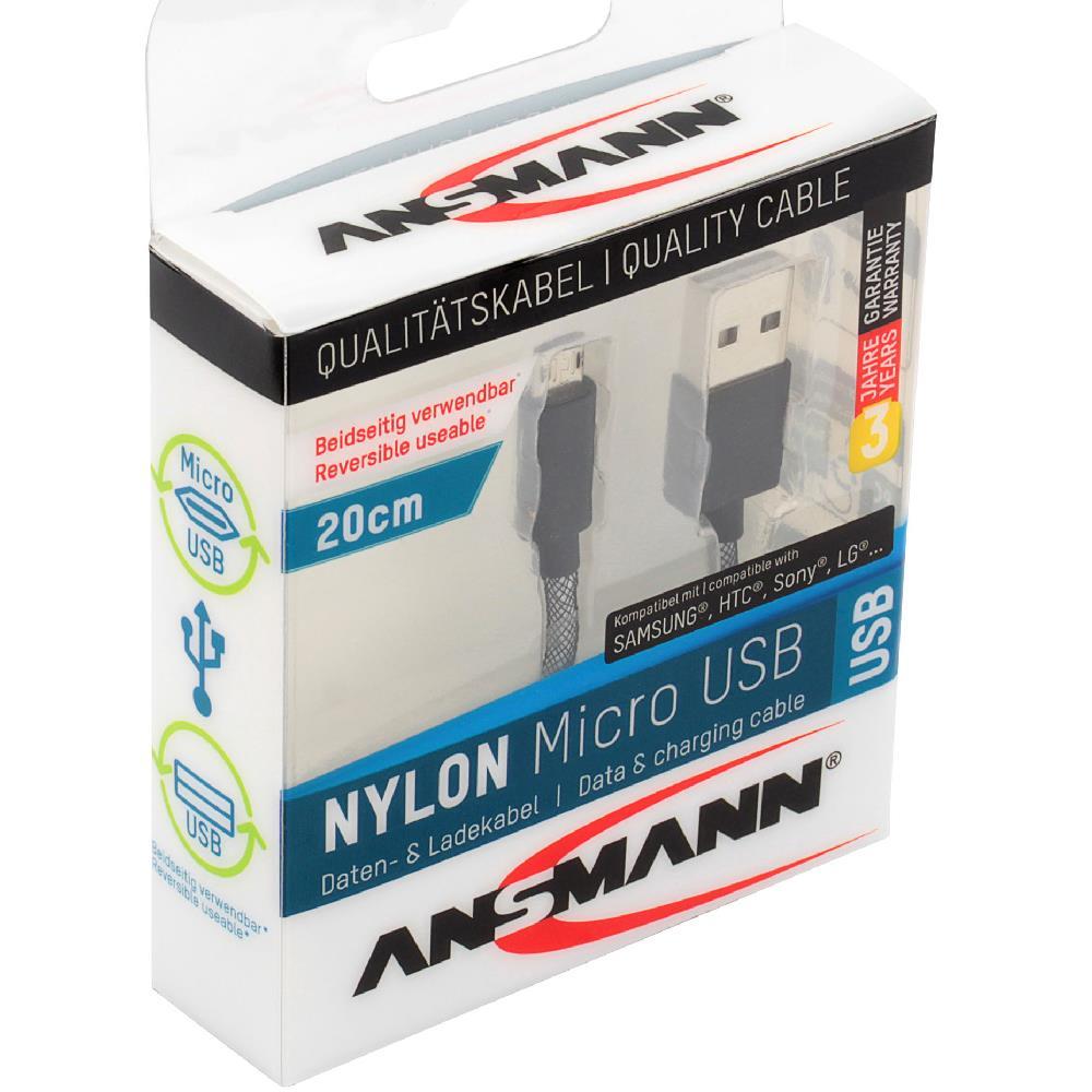 Micro USB Daten- und Ladekabel von Ansmann
