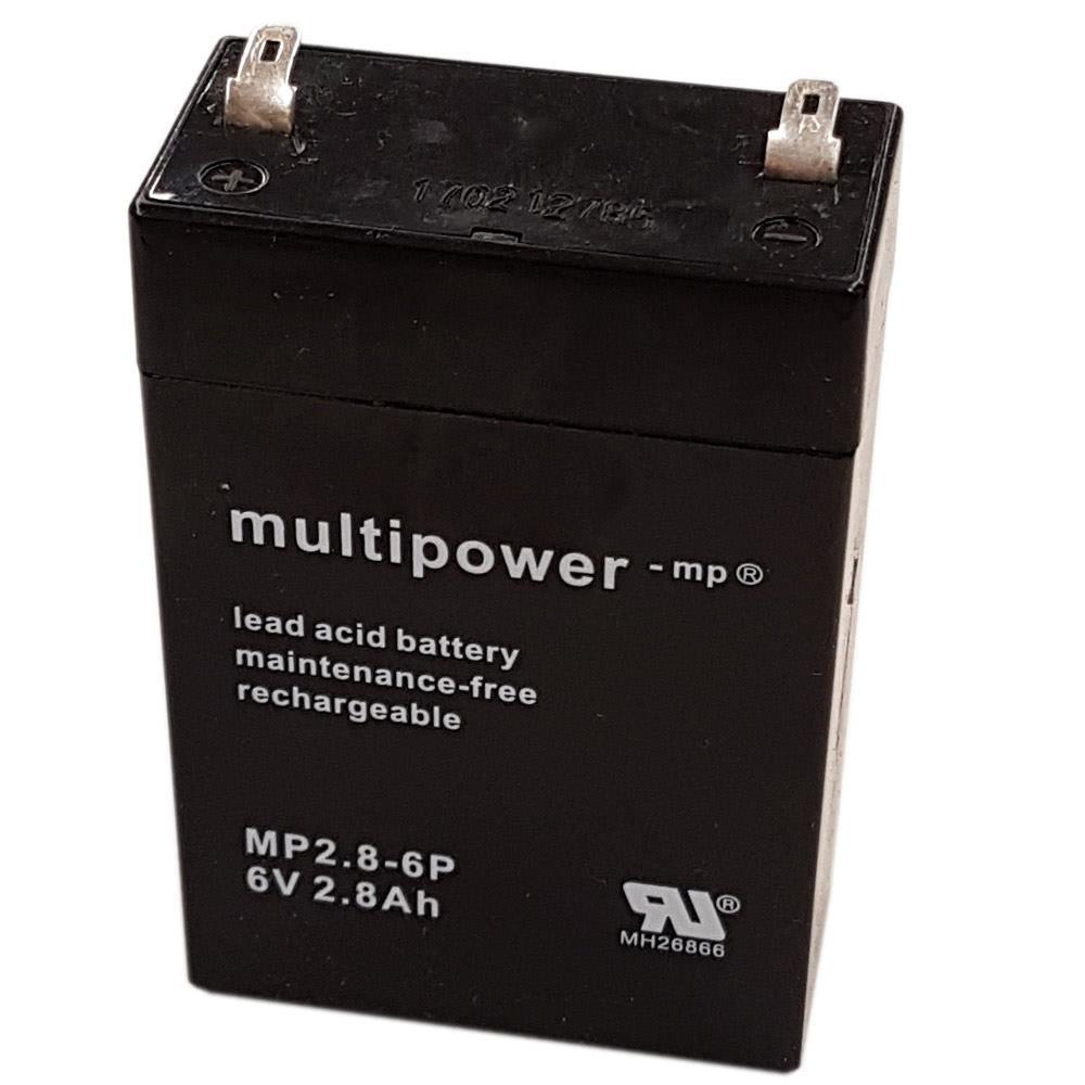 Multipower MP2.8-6 Akku 6V 2.8Ah
