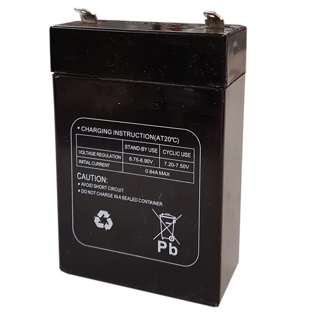 MultiPower MP2.8-6P 6V 2,8Ah von hinten