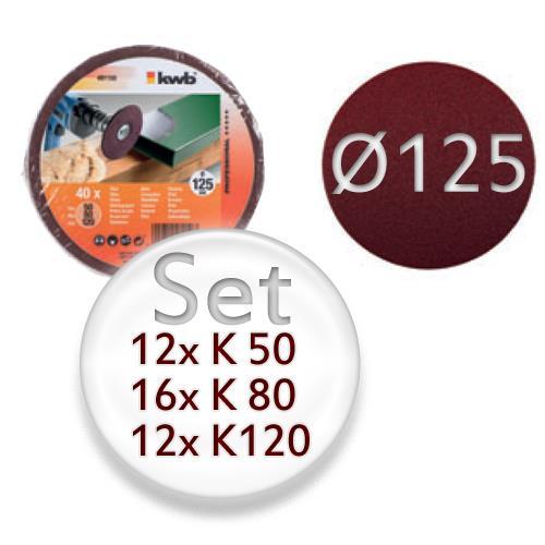 Schleifscheiben Set (K50, K80, K120)