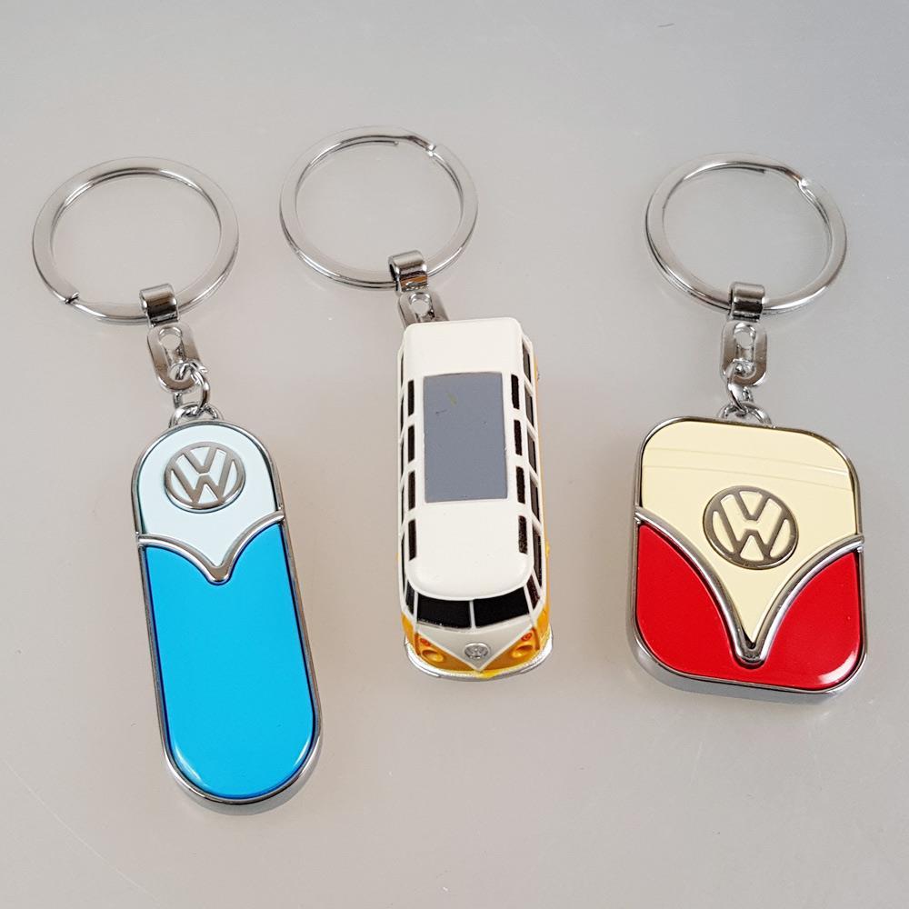 Schlüsselanhanger VW in blau, orange, rot