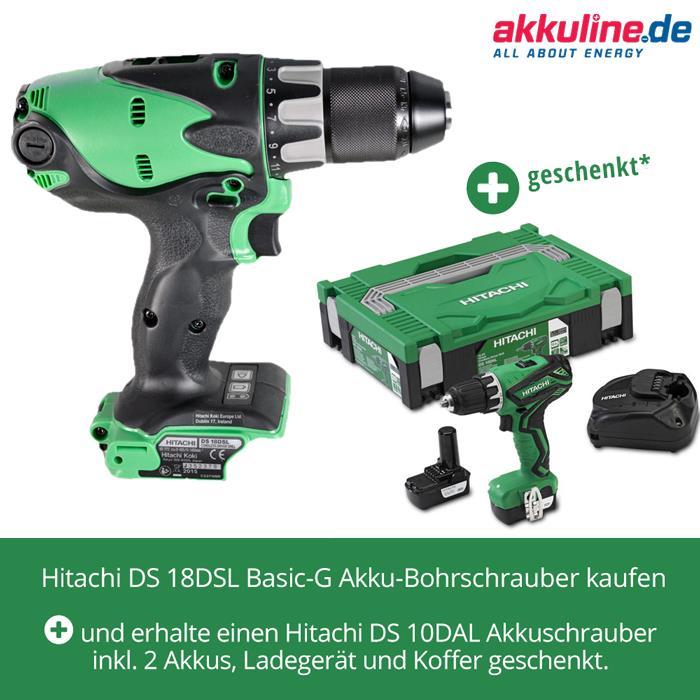 Sonderangebot Hitachi Akkuschrauber gratis
