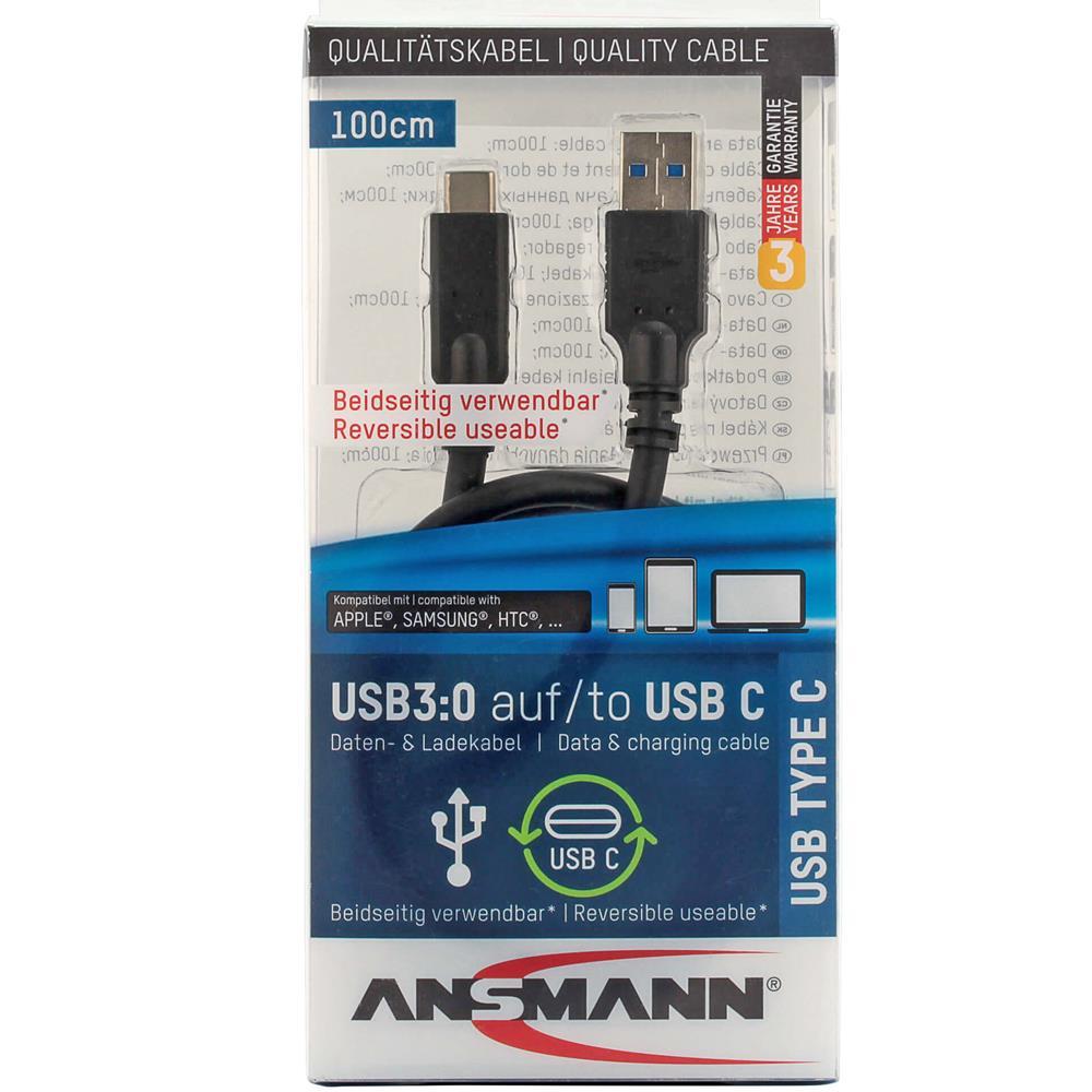 Typ-C auf USB 3.0 Datenkabe & Ladekabel 100cm