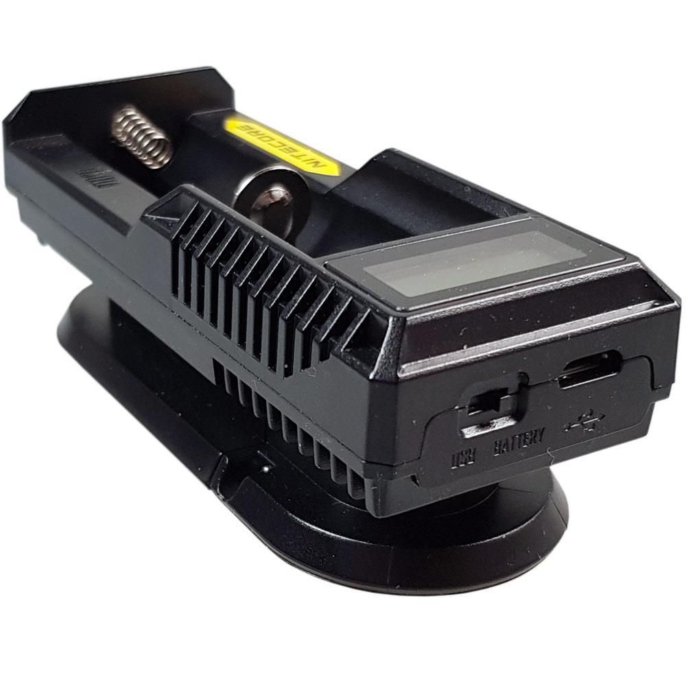 USB Anschluss des NiteCore UM10 Ladegerät