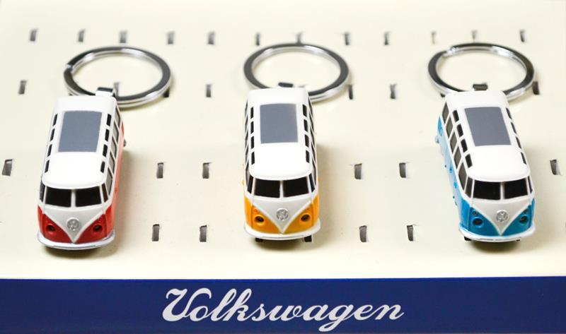 VW Bulli T1 LED-Schlüsselanhänger im 3er Set