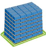 Zink-Kohle-Batterie Müll auf 58.669 Paletten