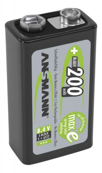 Ansmann NiMH 9 V E-Block 200mAh maxE