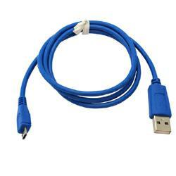 USB-Datenkabel zur Datenübertragung zwischen Handy und PC Micro-USB - 0,95m in Blau
