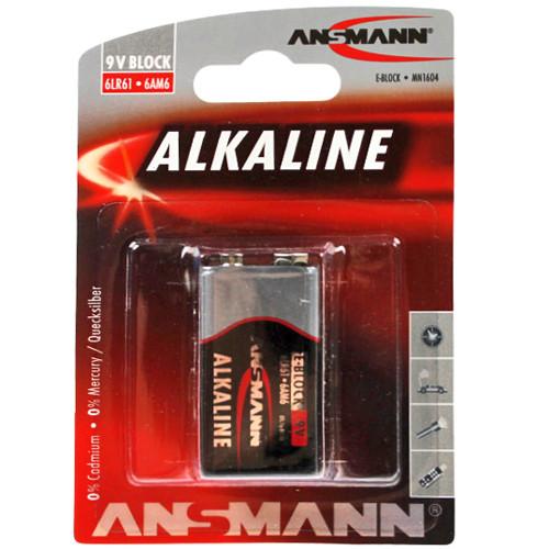 Ansmann RED Alkaline 9V Block 6AM6 AlMN Batterie 1 Stück TRAY